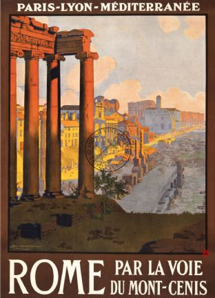 Rome - French Rail Travel Poster